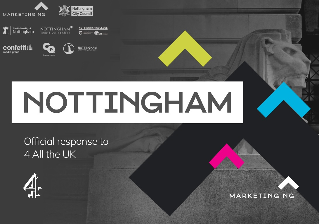 Nottingham's Channel 4 bid document cover page