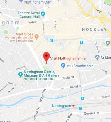 Invest In Nottingham Map