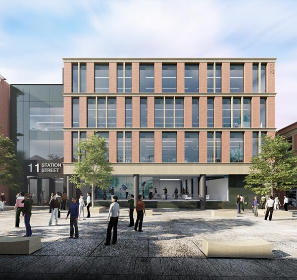An artist's impression of new offices on Station Street